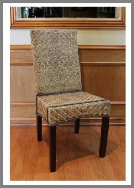 rattan dining room chairs image