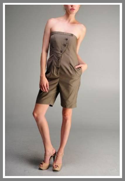 strapless short jumpsuit image