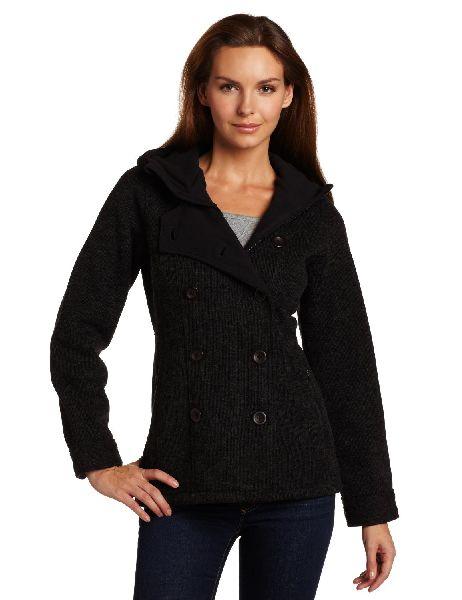 Black pea coats for women