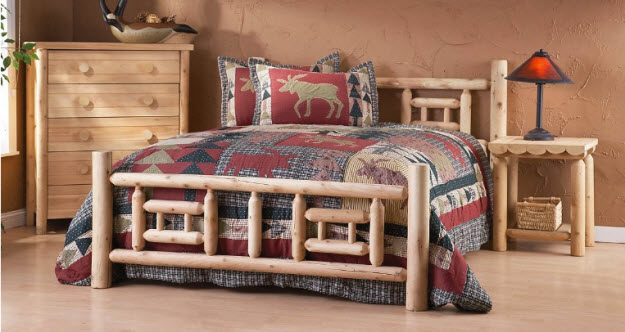 Woodworking Log Cabin Bed Frame PDF Free Download