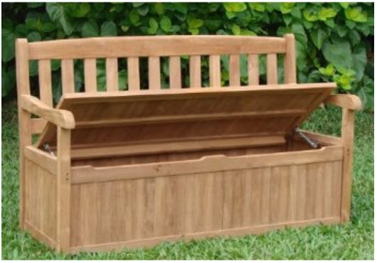 Free plans 7 outdoor storage benches to build for your, Free plans for ...