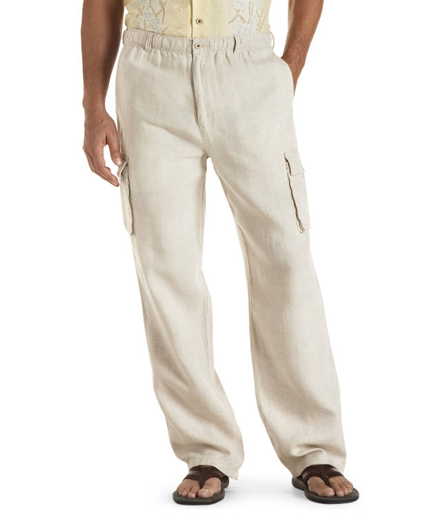 Mens linen pants pictured: Tommy Bahama Big & Tall Linen On-The-Edge ...