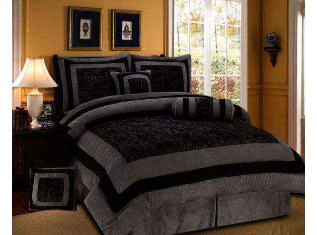 black queen size bedding. Black Bedroom Furniture Sets. Home Design Ideas