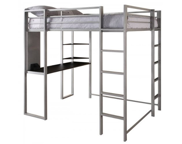 Metal Loft Beds with Desk for Girls 630 x 500