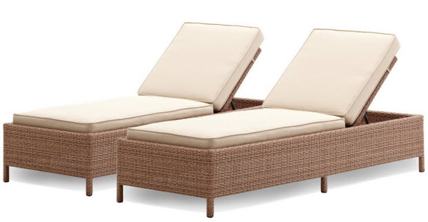 Outdoor reclining chaise lounge chair - 2