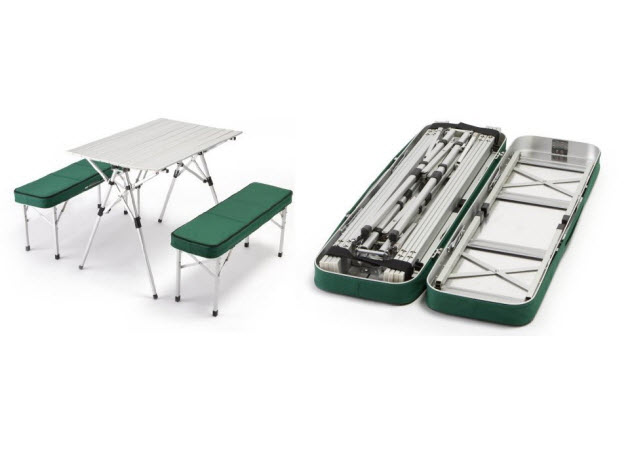 set pictured: Outdoor or Indoor Portable Folding Picnic Table Bench ...