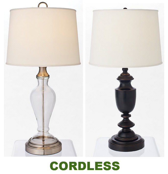 Battery operated cordless table lamps - b