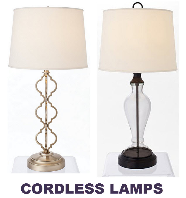 Battery operated cordless table lamps - c