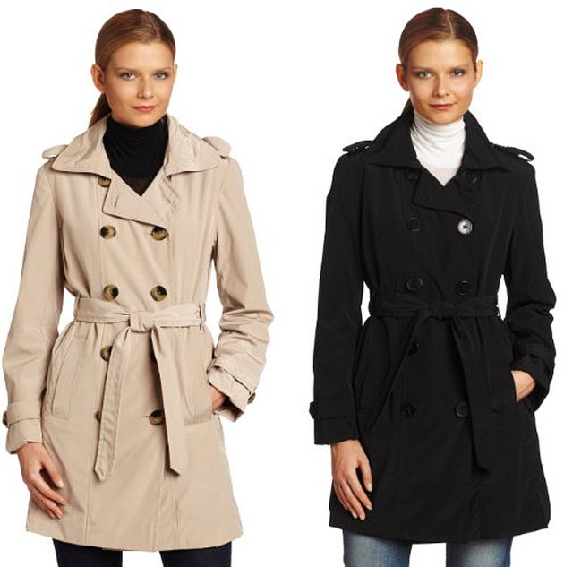 Womens Black Trench Coat Sale