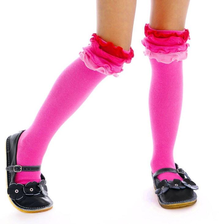 Girls ruffle socks pictured: Servane Barrau Designs Pink Ruffle Socks ...
