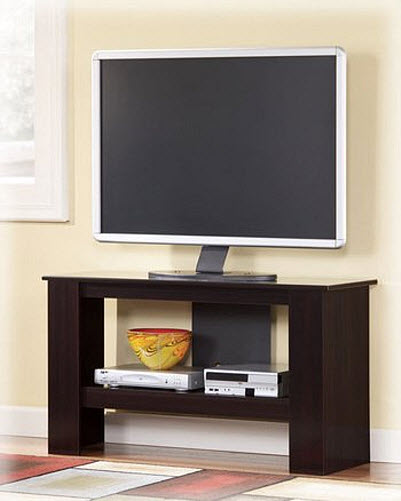 Thin TV stand pictured: Contemporary Merlot Finish Emporia TV Stand