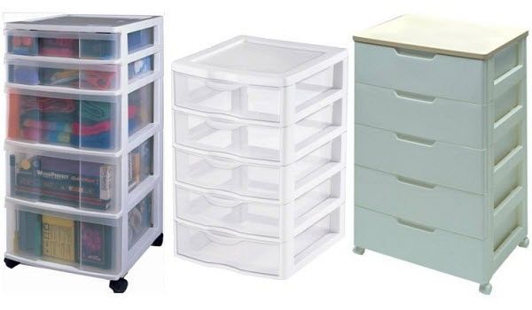 5 Drawer Plastic Storage Unit Cabinet