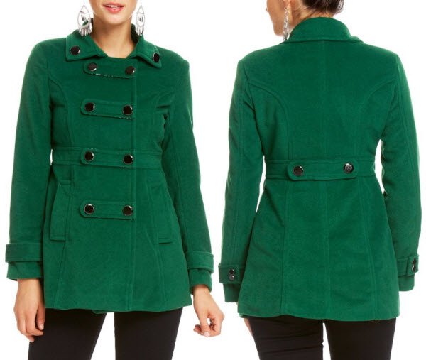 Womens green pea coat – WhereIBuyIt.com
