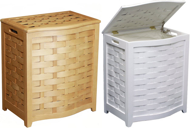 Wood Laundry Hamper With Lid