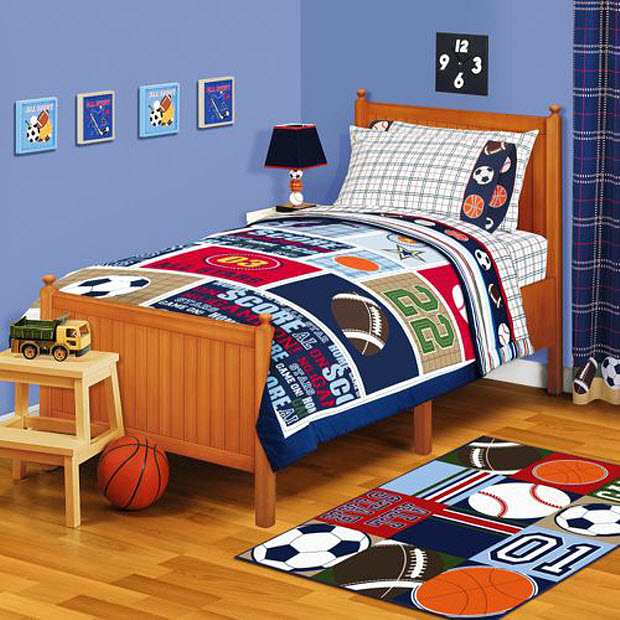 Sports bedding set pictured american kids all stars twin comforter