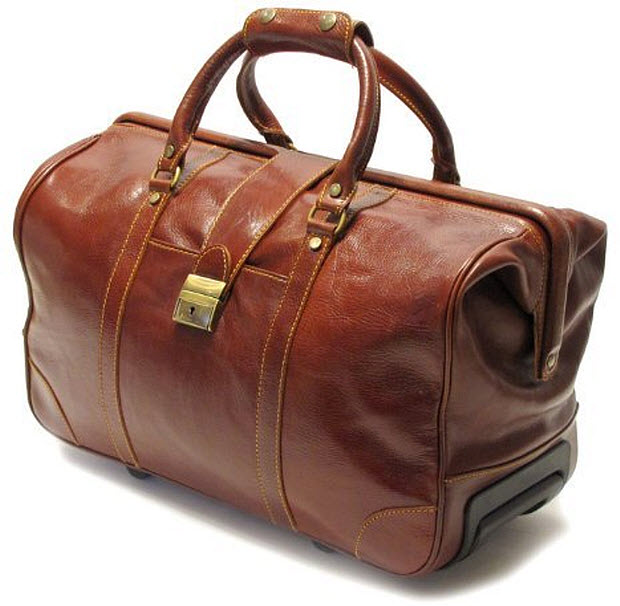 Leather rolling duffle bag – WhereIBuyIt.com