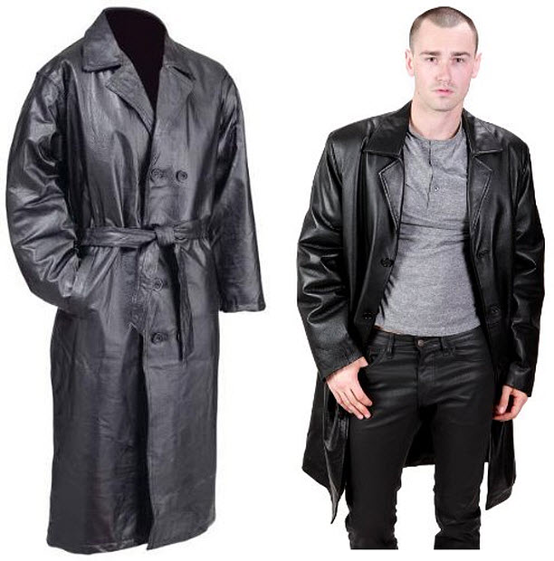 Leather Trench Coat Male