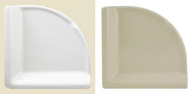 Ceramic corner shower shelf WhereIBuyItcom