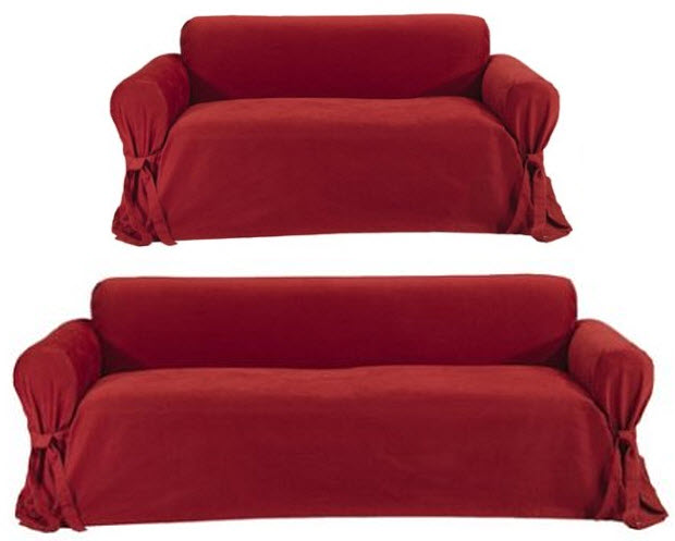Perfect Red Couch Cover
