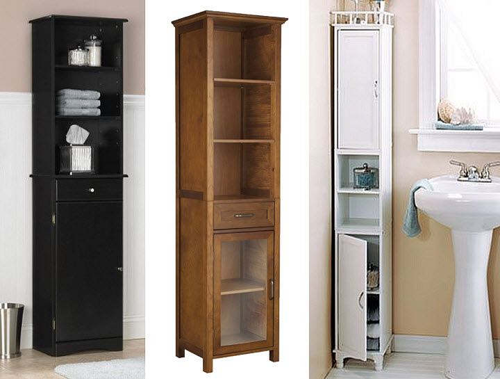 Tall bathroom storage cabinet - 2