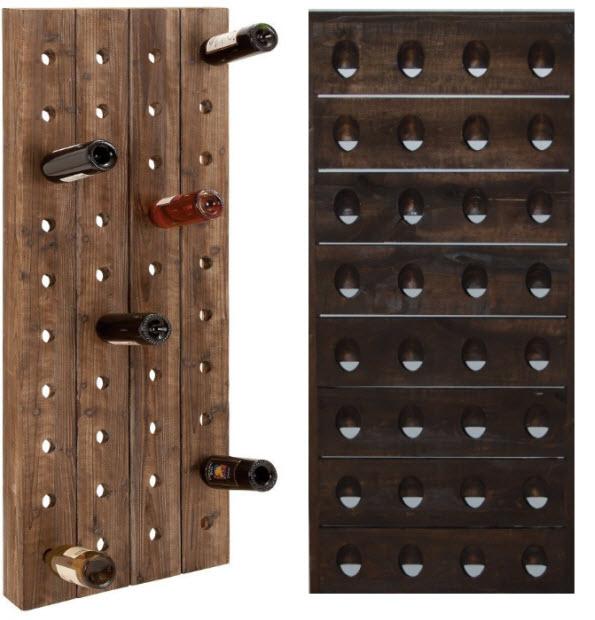 Wall Mounted Wooden Wine Racks Whereibuyit Com