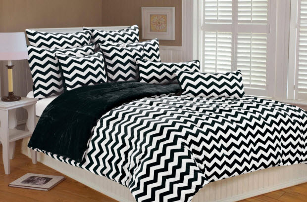 Black And White Chevron Bedding