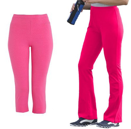 Hot pink yoga pants pictured: Left: Coool New Womens Leggings Tights ...