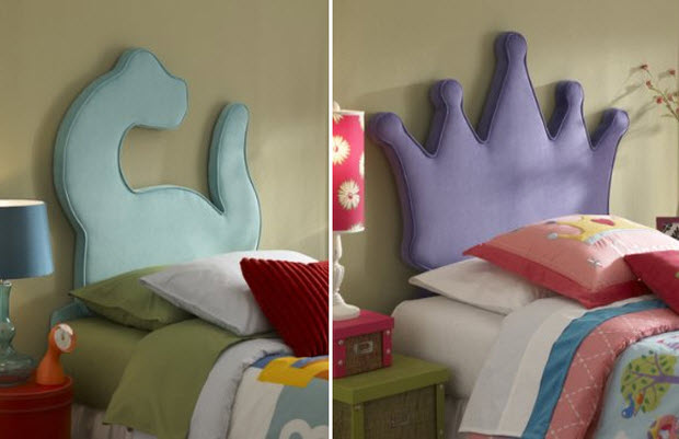 Upholstered kids headboards pictured kid shapes twin size headboard