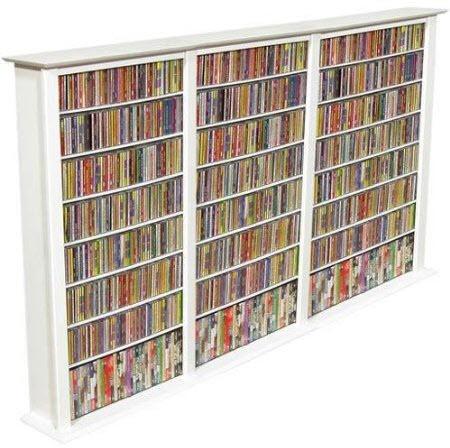 White DVD Storage Cabinet