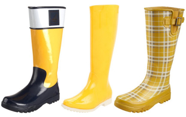 Yellow Rain Boots For Women - Boot Hto