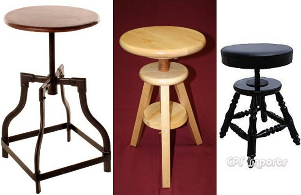 Elegant Adjustable Piano Stools