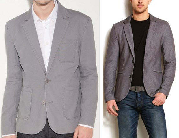 Men Fashion Jacket Casual Mens Casual Grey Blazer