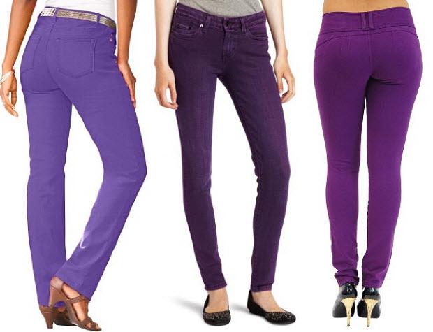 Purple Jeans For Women Ye Jean