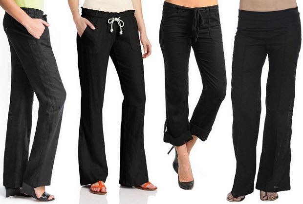 Womens black linen pants – WhereIBuyIt.com