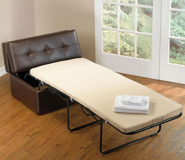 Ottoman Converts To Single Bed