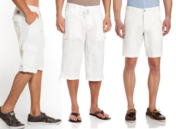 Mens Linen Capri Pants