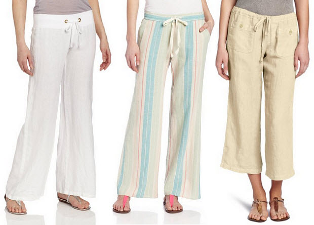 Womens linen beach pants