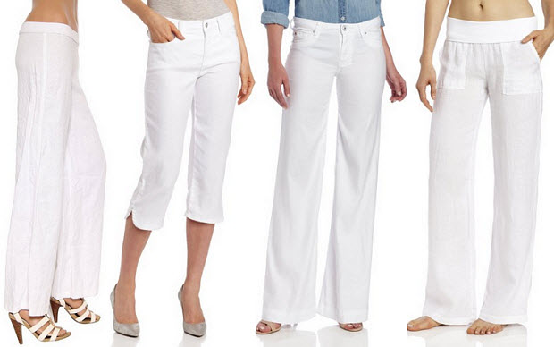 Womens white linen pants – WhereIBuyIt.com