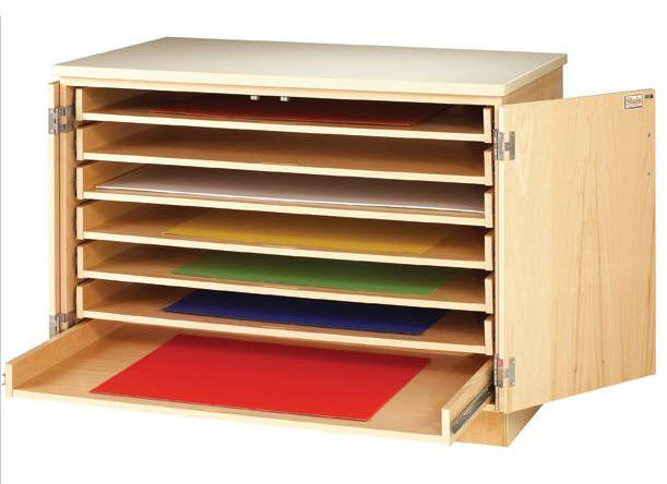 Construction paper organizer