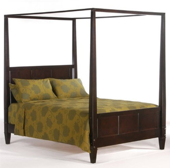 Full size canopy bed frame