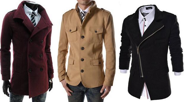 Slim fit coats for men