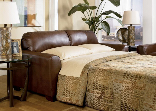Small leather sofa beds