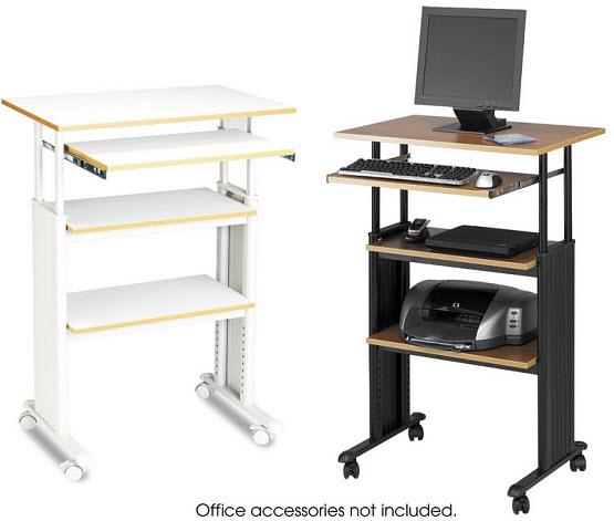 Adjustable height standing computer desk