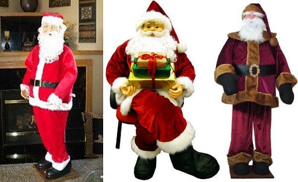 Life-size Santa Claus decoration