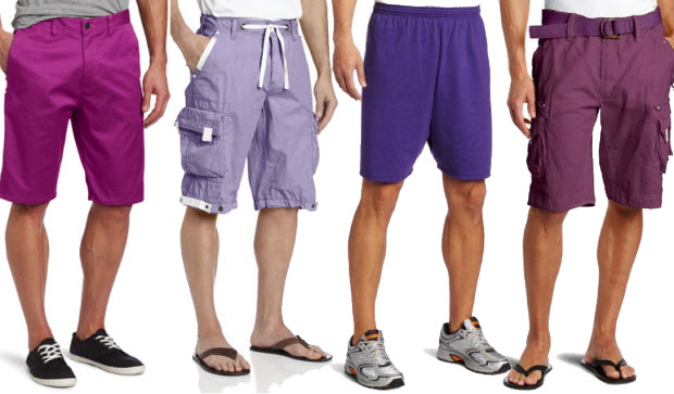 Purple shorts for men