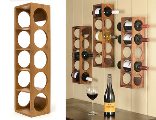 Wood wall mounted wine rack – WhereIBuyIt.com