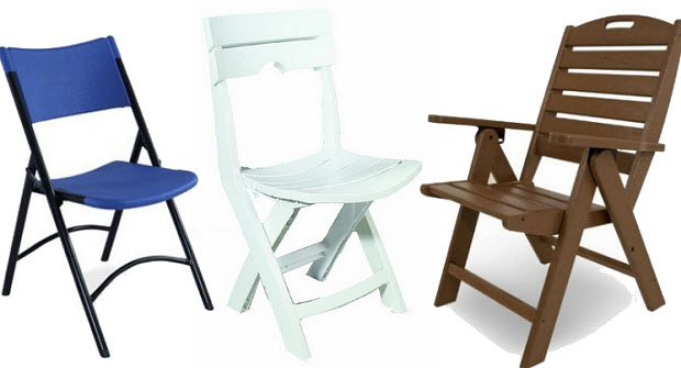 Resin folding chair