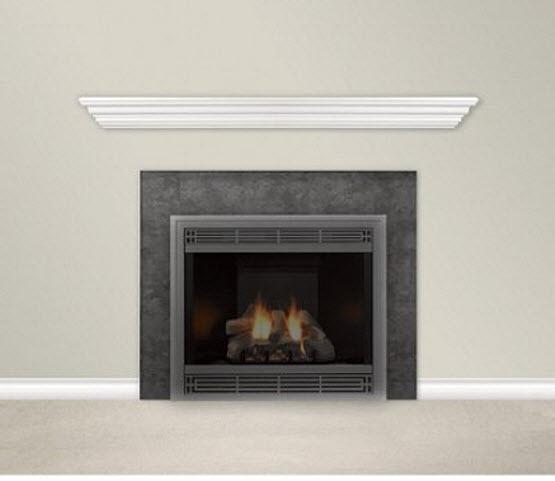 White fireplace mantel shelf