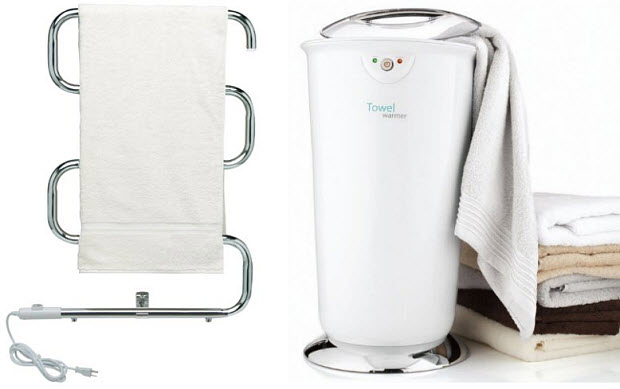 Electric heated bath towel warmers