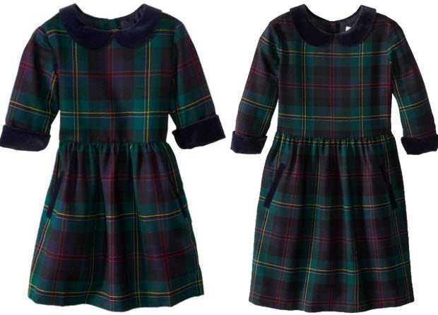 Girls tartan wool dresses